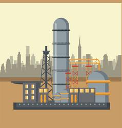Petroleum industry concept vector
