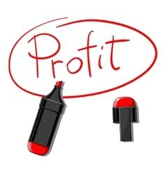 Profit doodle vector