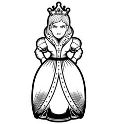queen line art vector image