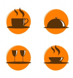 restaurant icons vector image