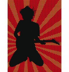 rock star poster vector image