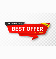 sale sticker or tag discount and special vector image