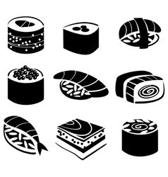 Set of sushi vector