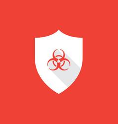 shield with biohazard symbol vector image