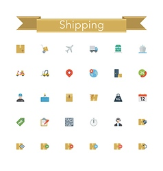 Shipping flat icons vector
