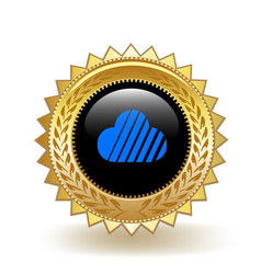 Skycoin cryptocurrency coin gold badge vector