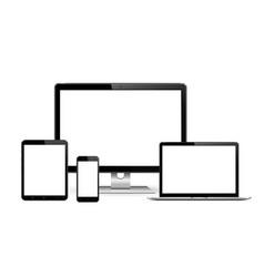 Smartphone tablet laptop and desktop computer vector