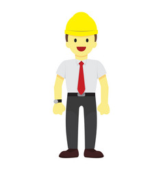 standing male worker graphic vector image