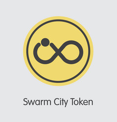 Swarm city token cryptocurrency coin vector