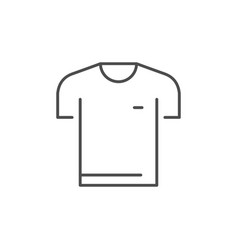 t-shirt or tee-shirt line icon vector image