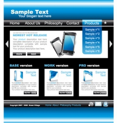 Technology website vector