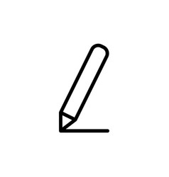 thin line pencil icon vector image