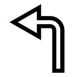 Turn Left Stroke Icon vector