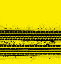 Two tire track yellow vector