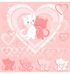 Valentine's day card vector image