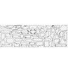 Various paper parchment doodle set vector