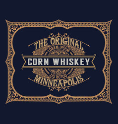 whiskey design for label and packaging vector image