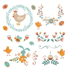 Colorful Easter collection vector image vector image