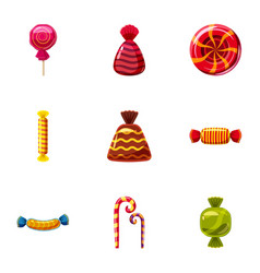 popular sweets icons set cartoon style vector image vector image