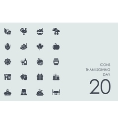 Set of Thanksgiving day icons vector image