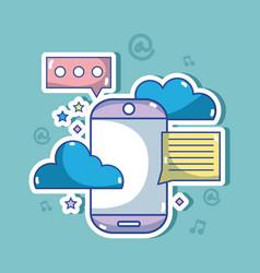 social media technology global communication vector image vector image