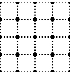Black and white dotted squares simple seamless vector image vector image