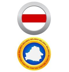 button as a symbol BELARUS vector image