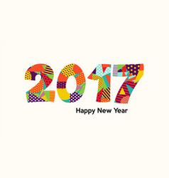 happy new year 2017 fun color typography design vector image vector image