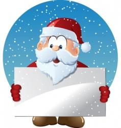 santa claus holding blank sign vector image vector image