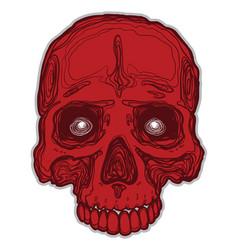 cartoon skull vector image