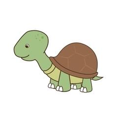 Cute turtle pet vector