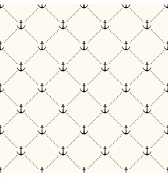seamless retro pattern polka dot with anchors vector image vector image