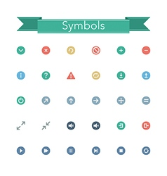Symbols Flat Icons vector image vector image