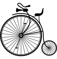 Vintage bicycle vector image