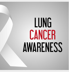 world lung cancer day awareness poster eps10 vector image vector image