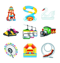 Attraction icons - Set II vector image vector image
