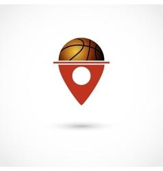 Basketball club tag vector image