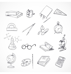 Education icon doodle vector image
