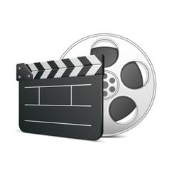 film clap board icon vector image vector image