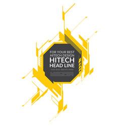 hi-tech yellow elements vector image vector image