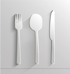 knife spoon and fork vector image