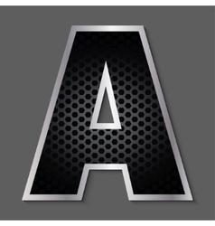 Metal grid font - letter a vector