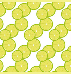 pattern with green lime slices vector image