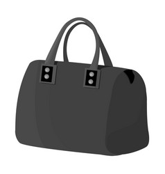 red lady s bag with handles ladies accessory vector image vector image
