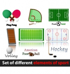 set of elements of sport vector image