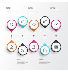 User outline icons set collection of user heat vector
