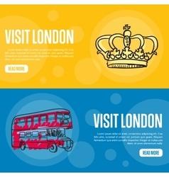 Visit London Touristic Web Banners vector image vector image