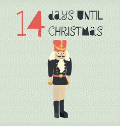 14 days until christmas vector