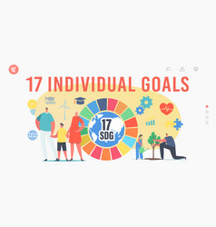 17 individual goals sustainable development vector