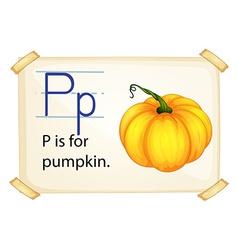 A letter p for pumpkin vector